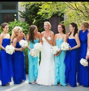 wedding colors Cobalt & turquoise