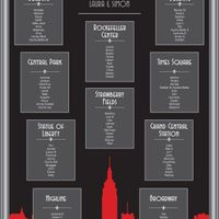 New York theme seating chart