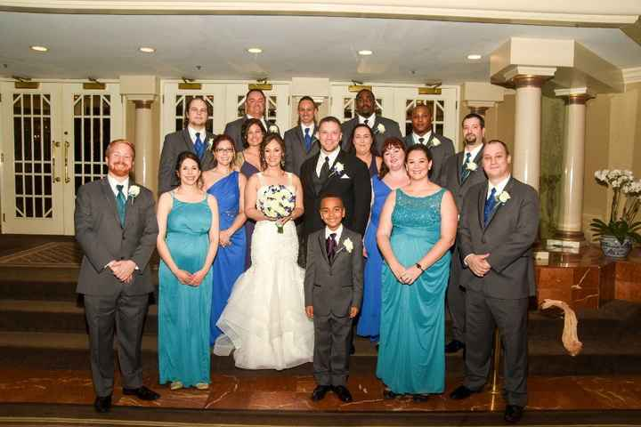 Our full bridal party (minus the flower girl and one usher, who were MIA)