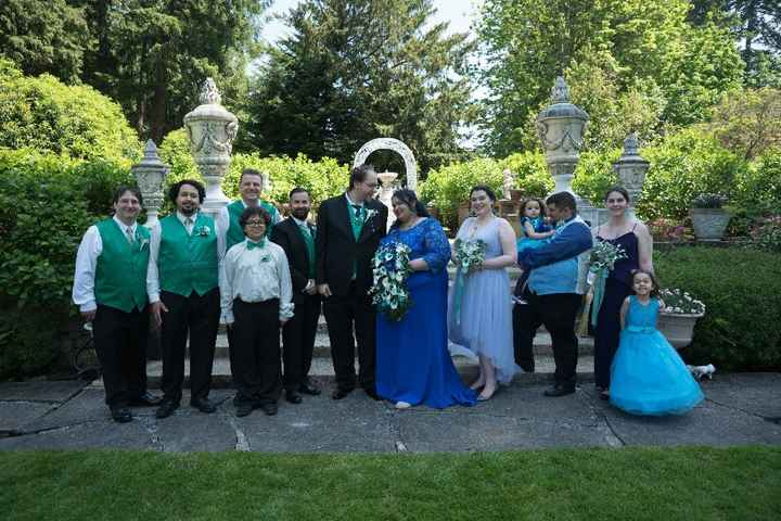 Who's the shortest member of your wedding party? - 1
