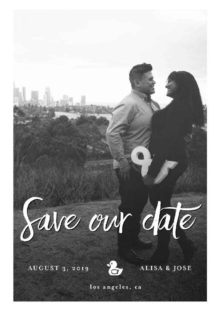 Save-the-dates: photo or no photo? - 1