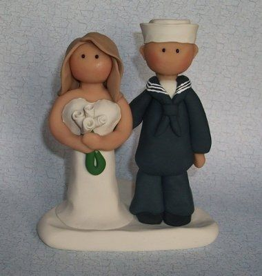Help Cake Topper Navy Sailor Weddings Style And D 233 Cor