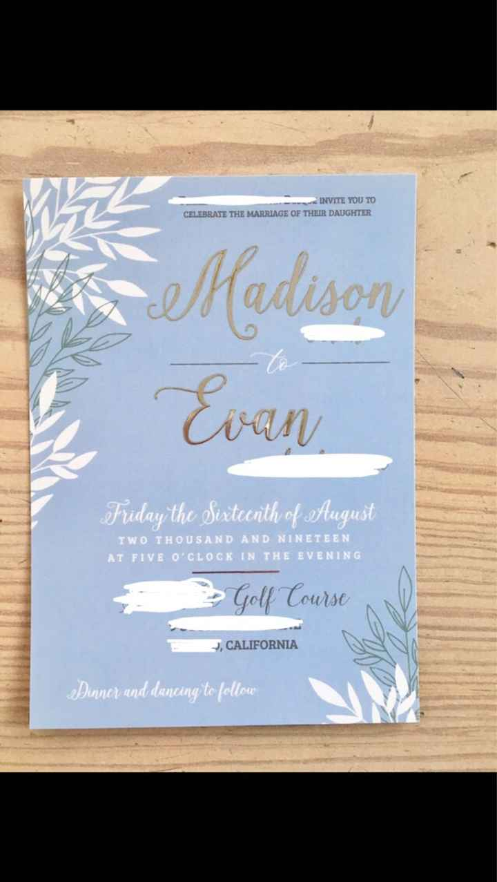 Wedding Invitations Are Going Out! Show Me Yours!!! - 1