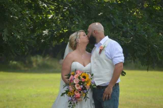 The new Mr. and Mrs. Davis