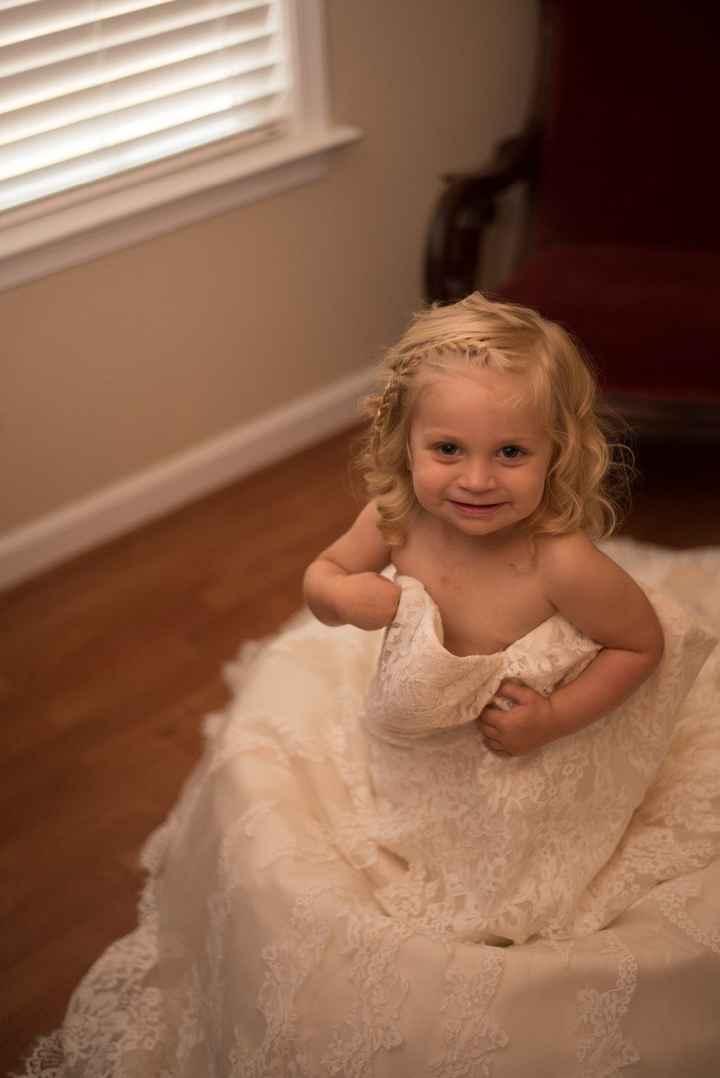My 2 year old wearing my dress