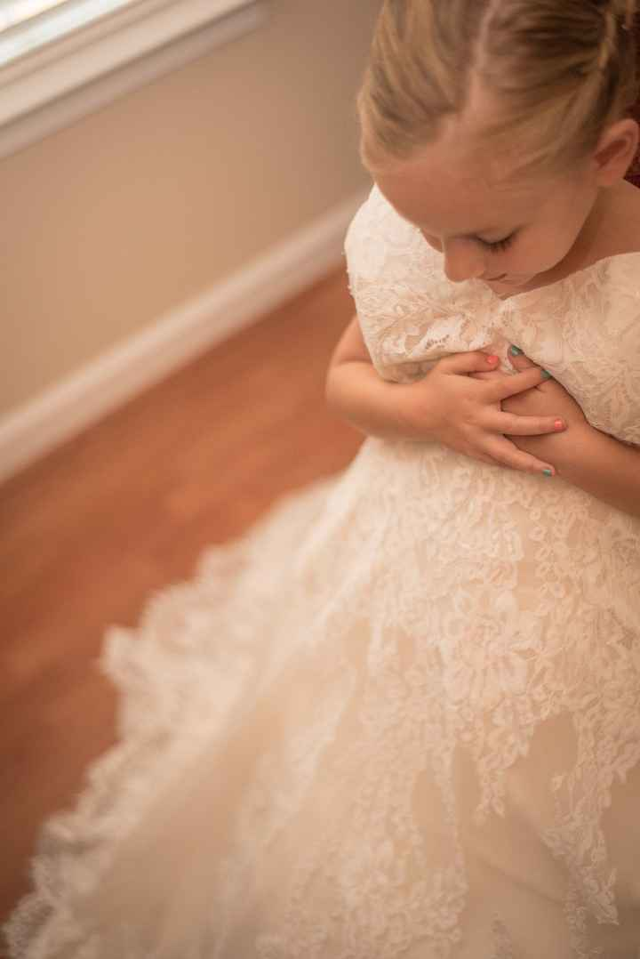 My 5 year old wearing my dress