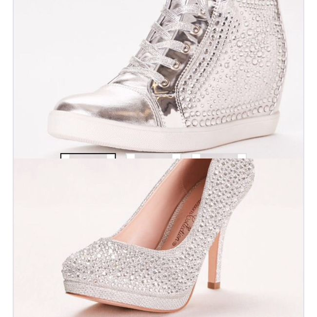36ef9f298994e I want to see what wedding shoes everyone will be wearing! I m doing these  all crystal heels for the ceremony and some bling sneakers that have a heel  ...