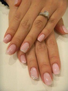 Wedding day nails 8