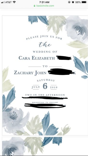 Invitation wording help - 1