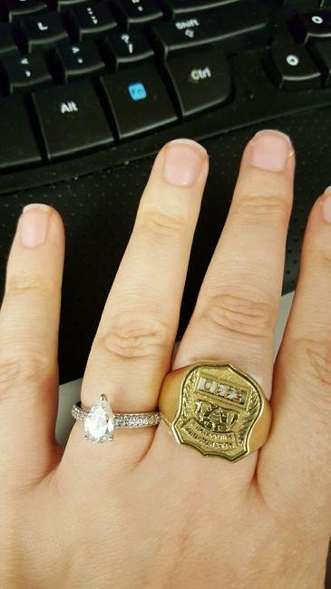 Pear/tear drop shaped rings 9