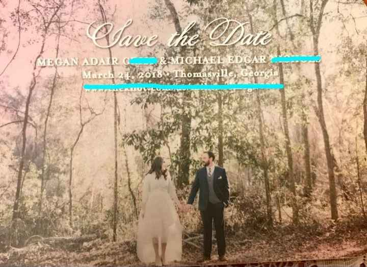Save the Date and Wedding Invitations