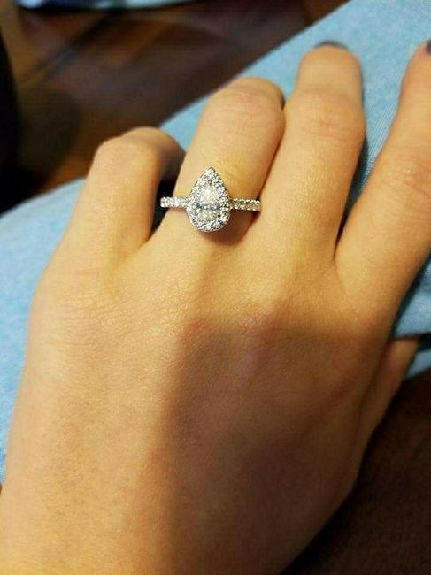 Pear/tear drop shaped rings 7