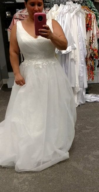 My wedding dress, i absolutely love it, adding sleeves!  Anyone else wearing a ball gown?? 13