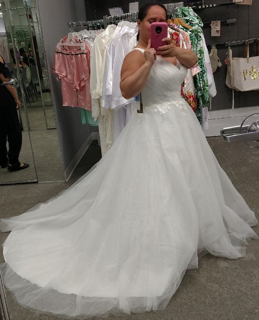 My wedding dress, i absolutely love it, adding sleeves!  Anyone else wearing a ball gown?? 14
