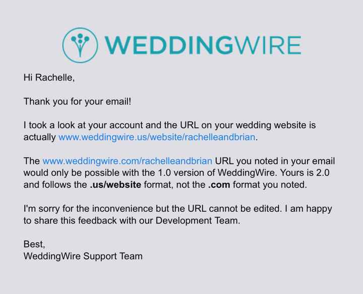 Wedding website not working - 1