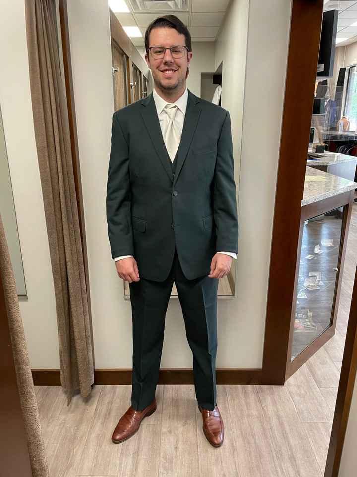 Emerald Green Suit Jacket - 1