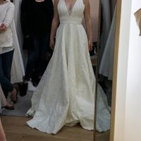 Wedding dress help! Opinions on where this dress should sit on my torso - 1