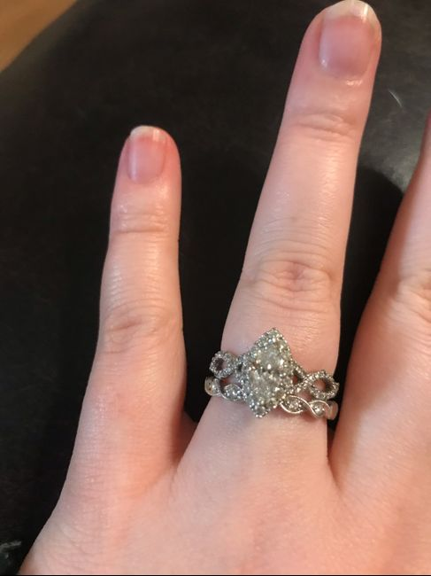 Just got my wedding band! Show yours off ladies! 2