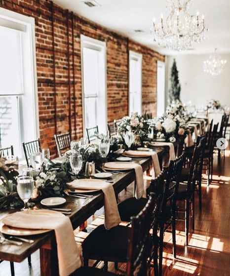 Long tables in a different room at our venue - these tables are only $35 each to rent