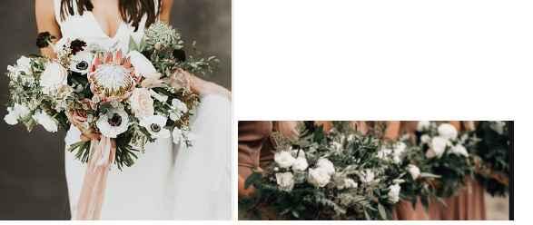 Mine and bridesmaid flowers