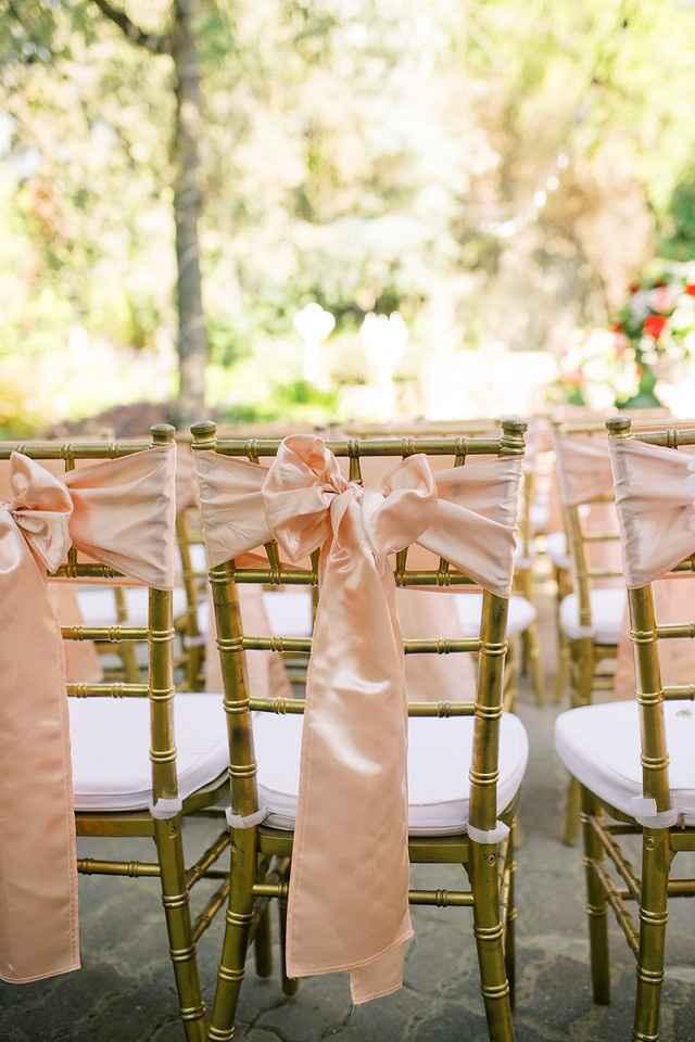 chiavari chairs/ pink ribbons