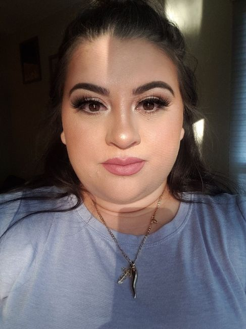 i had my makeup trial last night and 2