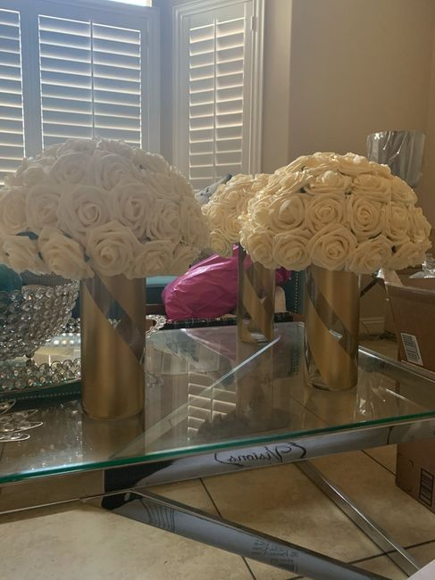 Loving how my centerpieces are turning out - 1