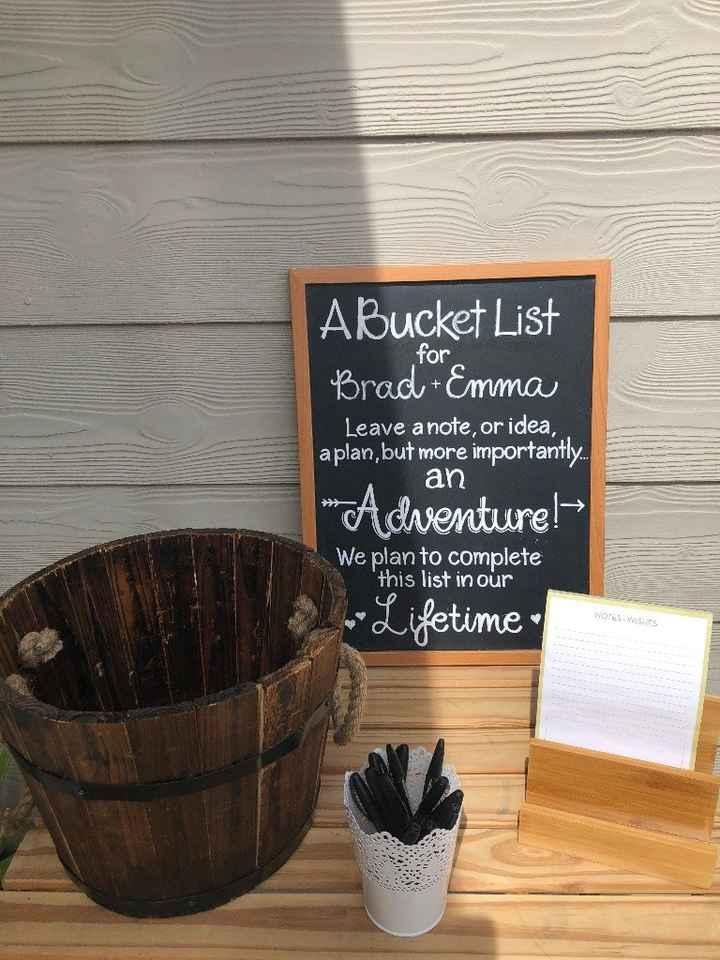Bucket list activity