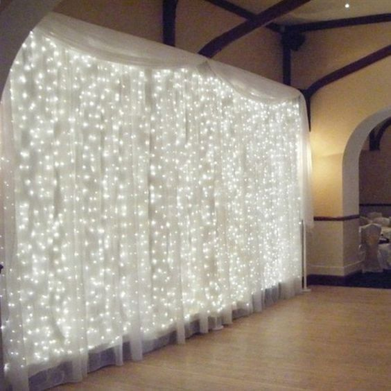 Opinions on how to cover walls/draping or swags/lights 10
