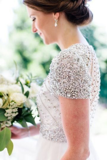 Does your wedding dress have lace, beading, or both? 2