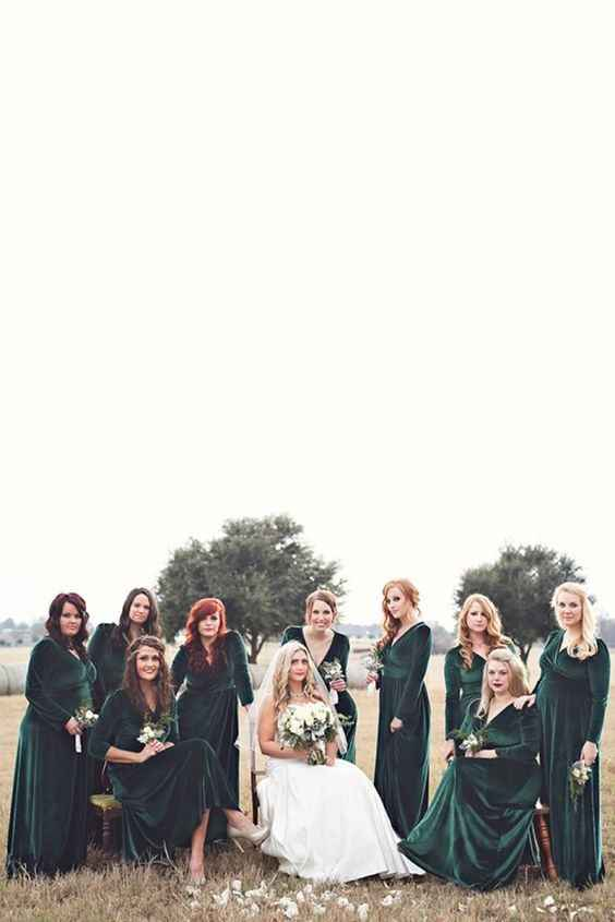 velvet bridesmaids dresses