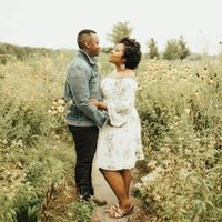 black couple engagement photo shoot