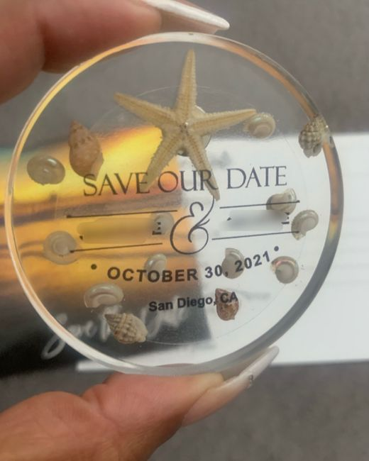 New Save-the-dates Arrived (again) 1
