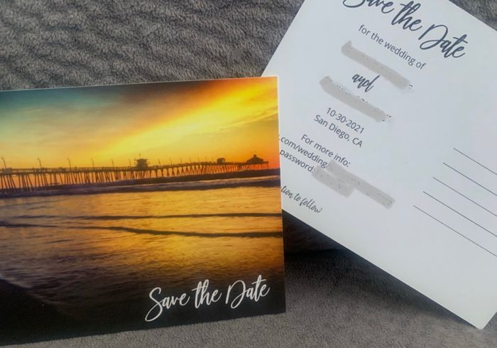 New Save-the-dates Arrived (again) 2