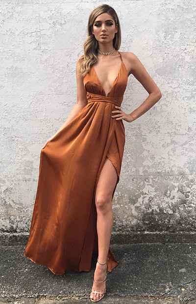 Copper/dark Rose Gold Bridesmaid Dress help - 4