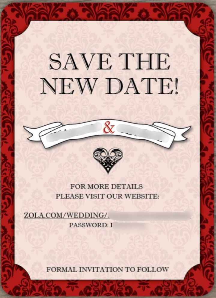 "Finalized our ""change The Date"" cards - 2"