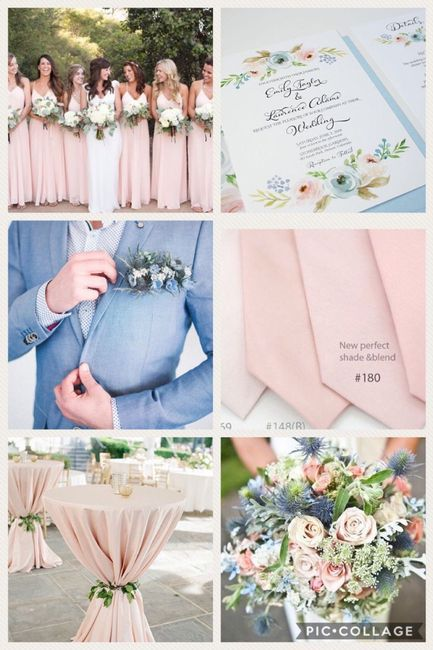 Blush and dusty blue wedding flowers 2