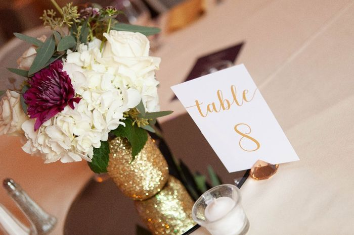 table decor - loved the flowers