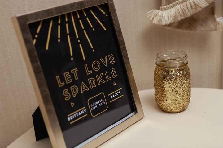 I made the glittered mason jars!