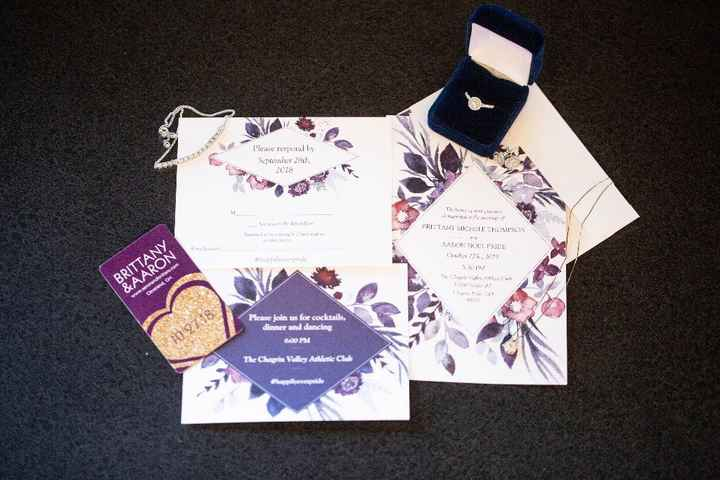 invitation & STD shot with jewerly
