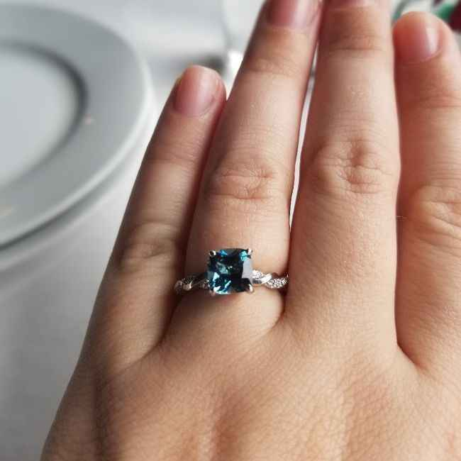 Does anyone have colored engagement/wedding ring - 1