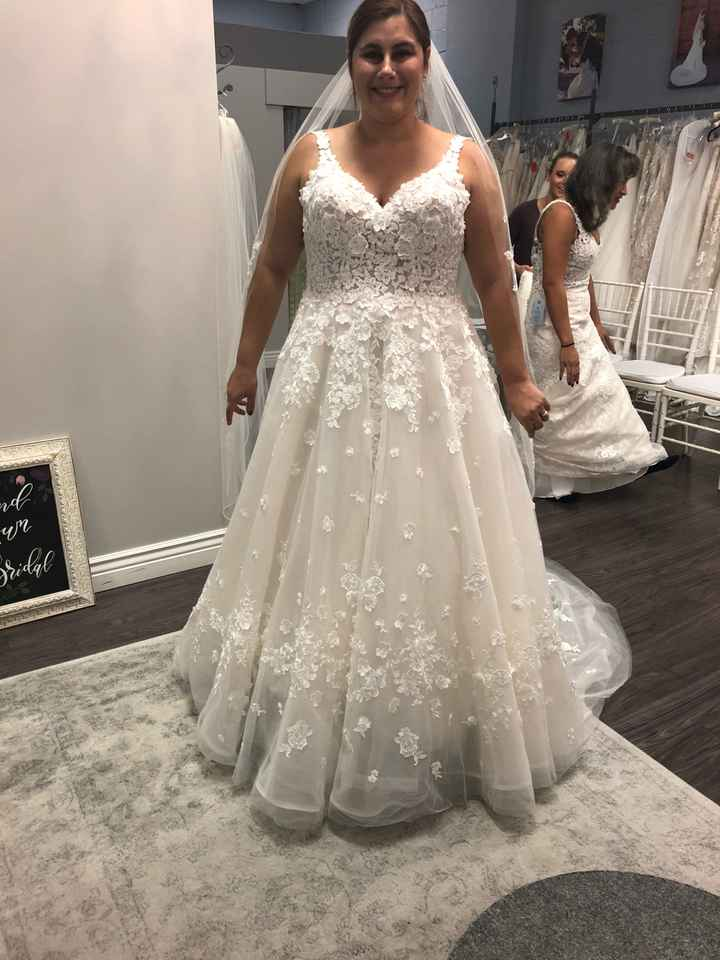 Let's see those A-line wedding dresses! - 1