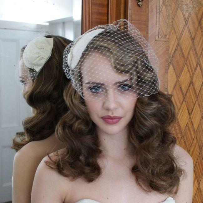 Hair style for Birdcage Veil 1