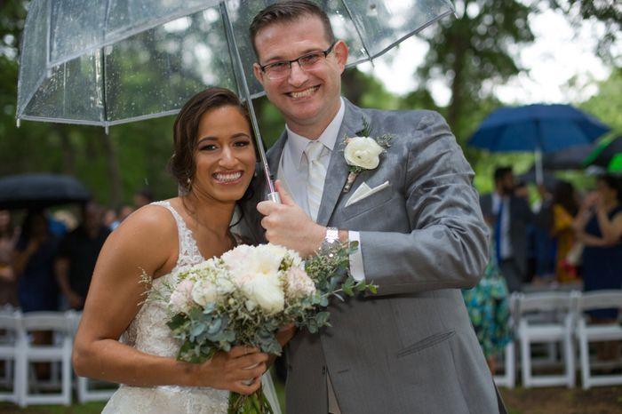 Forecasted rain on wedding day 2