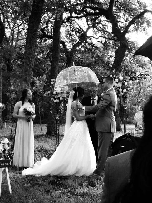 Forecasted rain on wedding day 3