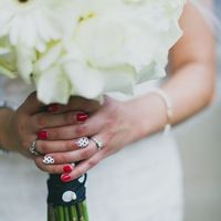 wedding day manicure color
