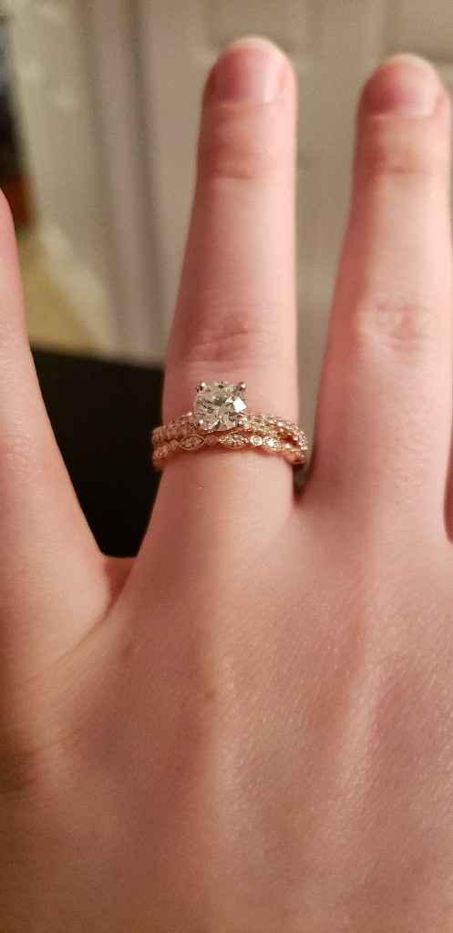 Mismatching wedding band & engagement ring - 1
