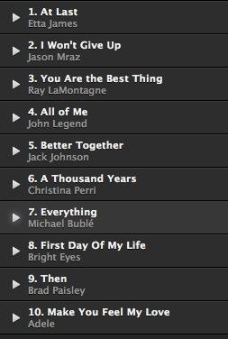 I Was Looking At The Ww Song List For Most Popular First Dance Songs