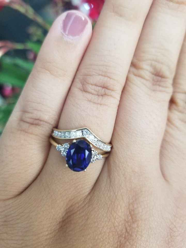 Sapphire Engagement Rings - 1