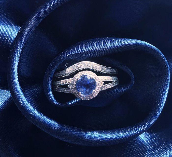 Blue wedding ring 10